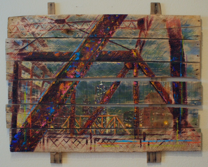14th & Wynkoop, 2013, Mixed Media, 49%22x40%22